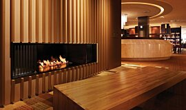 Keio Plaza Hotel See-Through Fireplaces 生物乙醇燃烧器 Idea