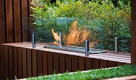 Melbourne International Flower and Garden Show Linear Fires Built-In Fire Idea