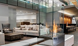 Nu Skin Innovation Centre Provo Linear Fires Built-In Fire Idea