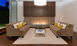 South Palm Canyon Builder Fireplaces Built-In Fire Idea