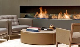 St Regis Hotel Lobby Linear Fires Built-In Fire Idea