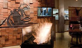 Hippo Creek African Grill Commercial Fireplaces Built-In Fire Idea
