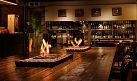 Restaurant La Cave Builder Fireplaces Built-In Fire Idea