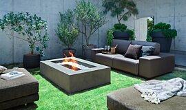 Private Residence Fluid Concrete Technology 壁炉家具 Idea