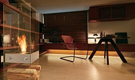 Merkmal Showroom See-Through Fireplaces 设计壁炉 Idea