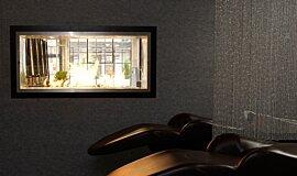 Raw Hair Salon See-Through Fireplaces 嵌入式燃烧室 Idea