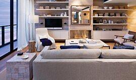 Beachfront Penthouse Builder Fireplaces 嵌入式燃烧室 Idea
