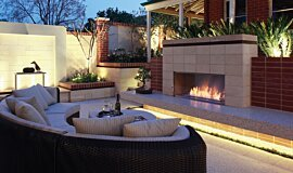 Private Residence Landscape Fireplaces 嵌入式燃烧室 Idea