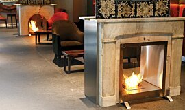 Equilibrium Bar Hospitality Fireplaces 嵌入式燃烧室 Idea