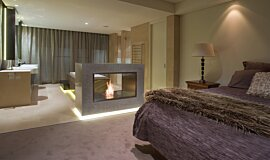 Private Residence See-Through Fireplaces 嵌入式燃烧室 Idea
