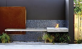 Private Residence Landscape Fireplaces 生物乙醇燃烧器 Idea