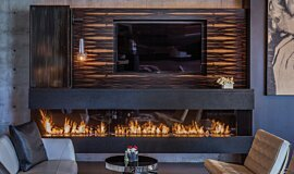 Hillside Residence Residential Fireplaces 生物乙醇燃烧器 Idea