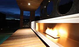 Portsea Private Pool Pavilion Landscape Fireplaces 生物乙醇燃烧器 Idea
