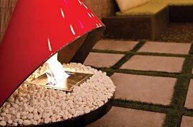 装饰鹅卵石 Fireplace - In-Situ Image by EcoSmart Fire