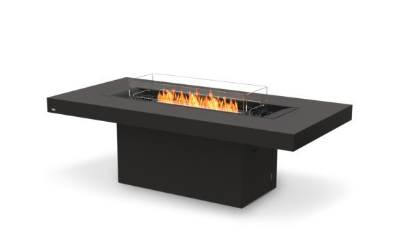 Gin 90 (Dining) 壁炉家具 - Ethanol - Black / Graphite / Optional Fire Screen by EcoSmart Fire